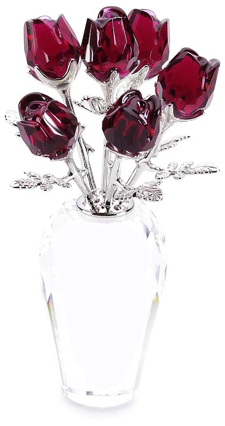 Amazon Swarovski Crystal Red Roses Home Kitchen