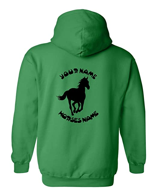 Gallop de cabeza de caballo equitación sudadera con capucha de personalizado de tu propio diseño Ecuestre, ...