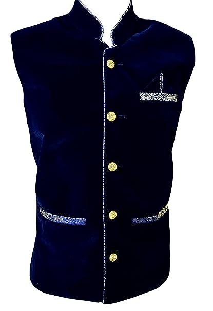 Mens Velvet Waist Coat Modi Jacket Blazer-MJ2010
