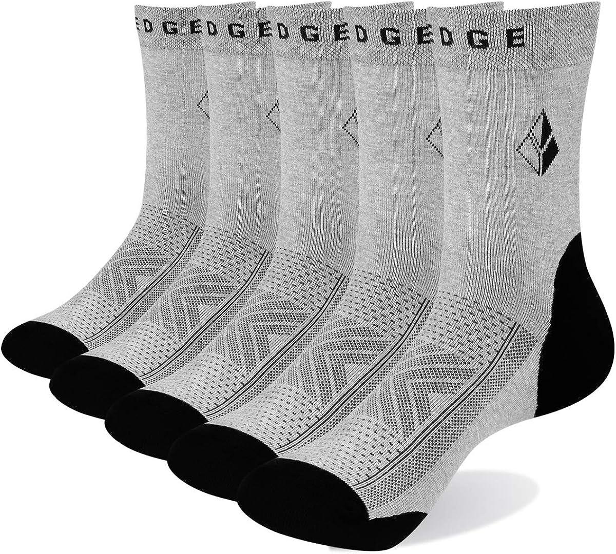YUEDGE 5 Paires Hommes Chaussettes Classiques l/ég/ères Respirantes Confortables