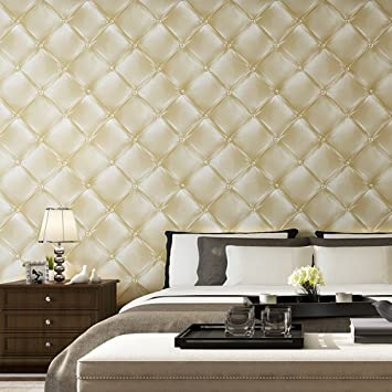 3d Faux Leather Texture Soft Pacakgaed Wall Mural Wallpaper Roll For Livingroom Bedroom 208 In