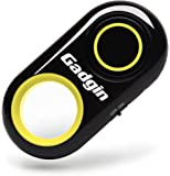Gadgin Wireless Remote Control Camera Shutter Release – Amazing Selfie, Video, Photo Wireless – For iPhone, iPad, Samsung Galaxy, Note, Tab, LG, HTC, Moto, Android & iOS, Phone & Tablet (Yellow)