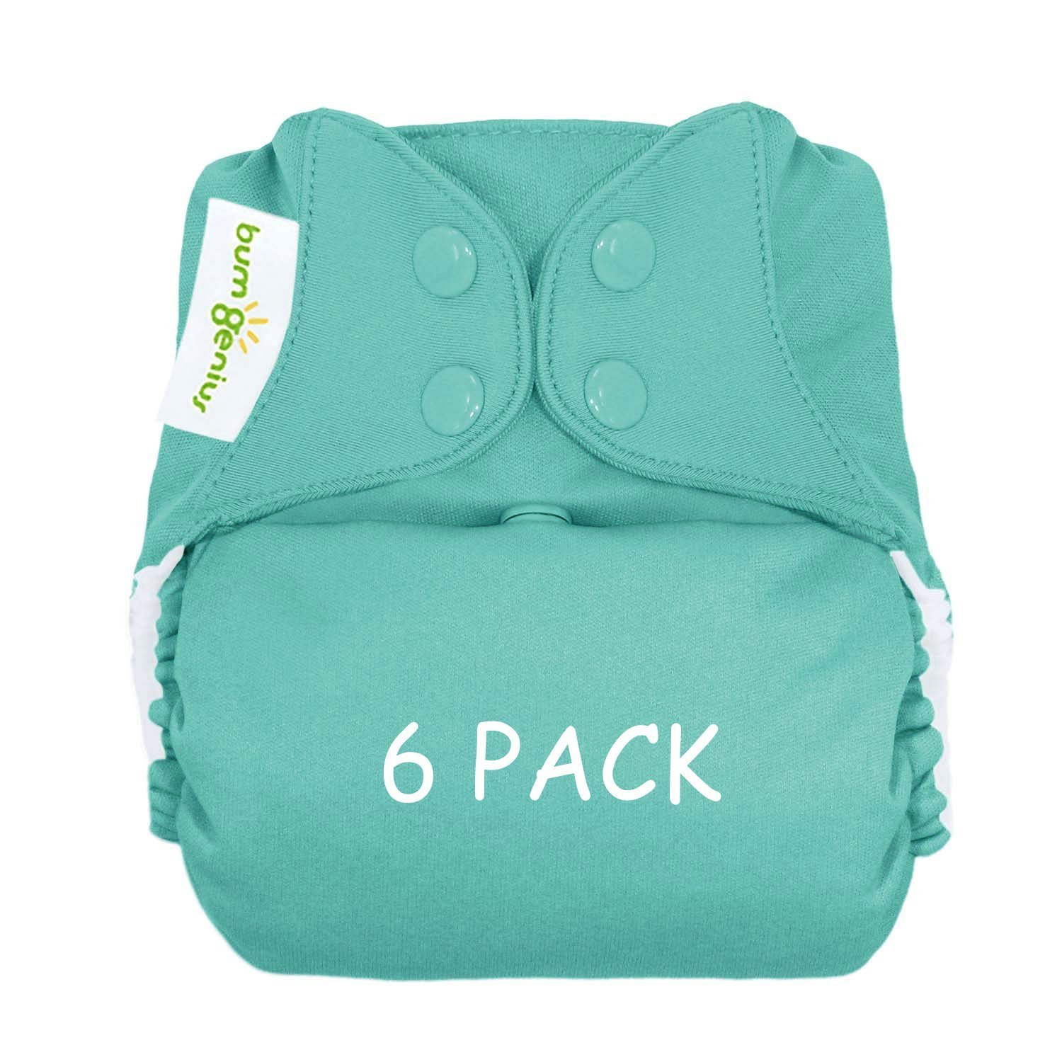 Bumgenius Freetime Cloth Diapers 6 Pack Mixed Colors Snaps by Freetime (Image #1)