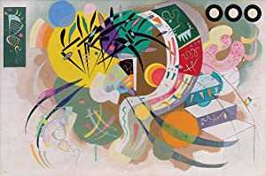 Wassily Kandinsky - Dominant Curve, Size 24x36 inch, Poster Art Print Wall décor