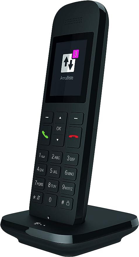 Telekom Speedphone 12 – Teléfono fijo inalámbrico, para uso con routers actuales con interfaz DECT-CAT-iq (por ejemplo, Speedport, Fritzbox), pantalla a color de 5 cm Negro: Amazon.es: Electrónica