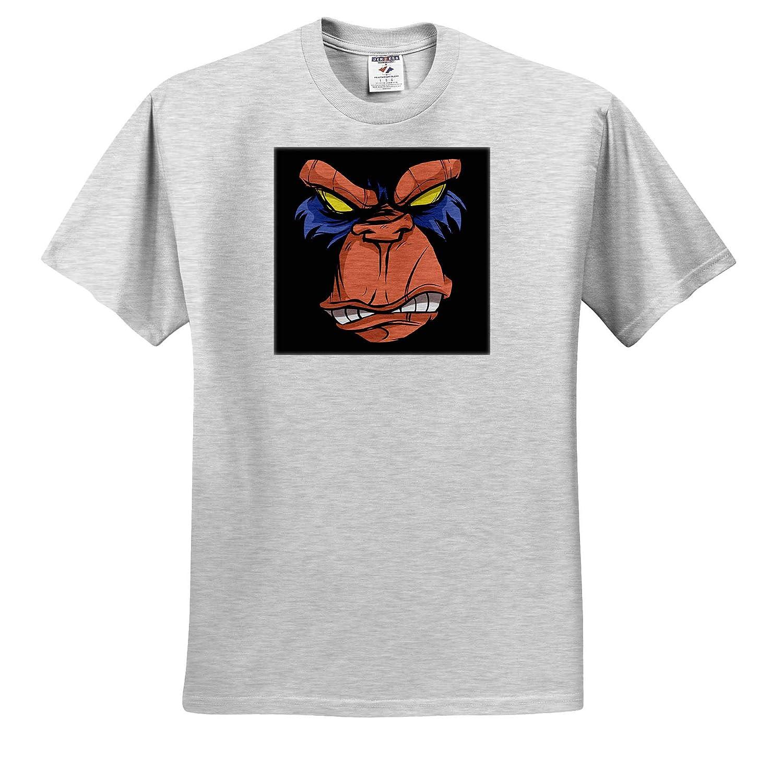 3dRose Sven Herkenrath Animal T-Shirts Illustration Art of Angry Monkey Gorilla Ape Animal