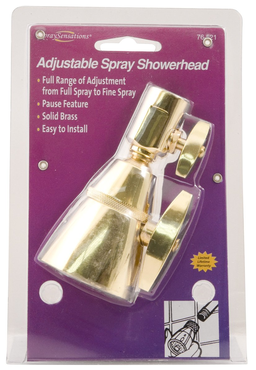 Waxman 7652100B Adjustable Showerhead, Brass