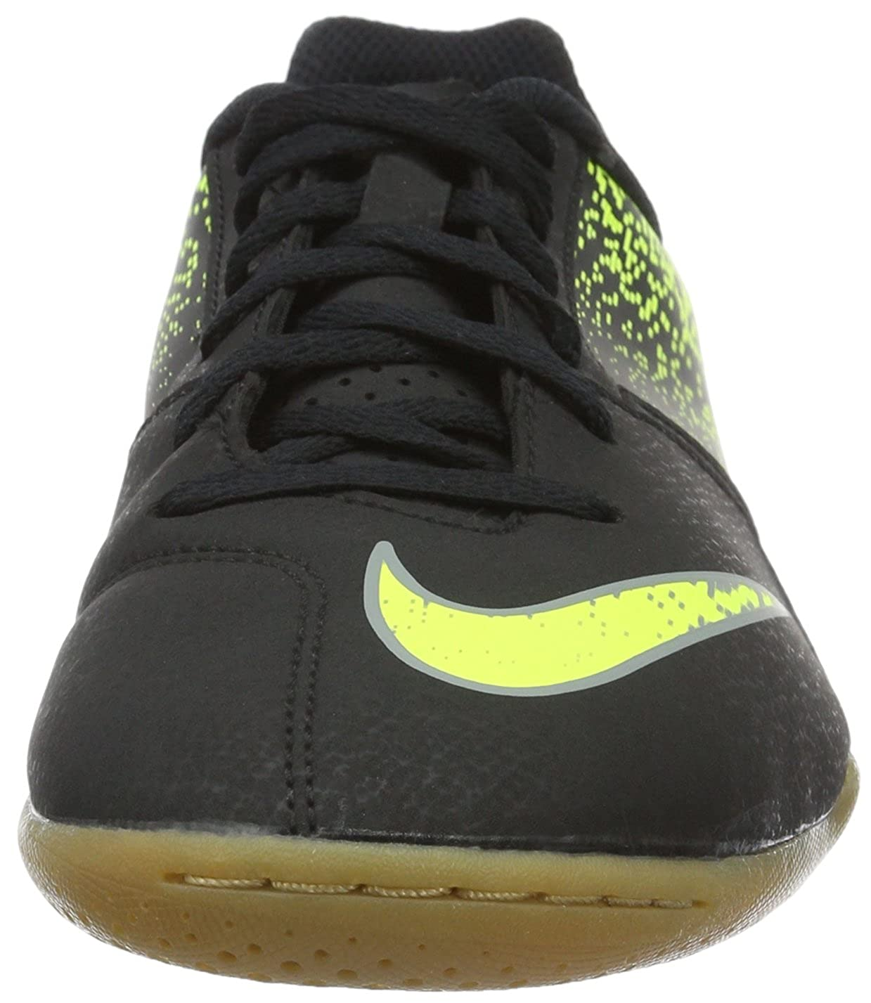 Amazon.com | Nike Kids Jr. Bombax (IC) Indoor-Competition Football Boot Black/Green | Football