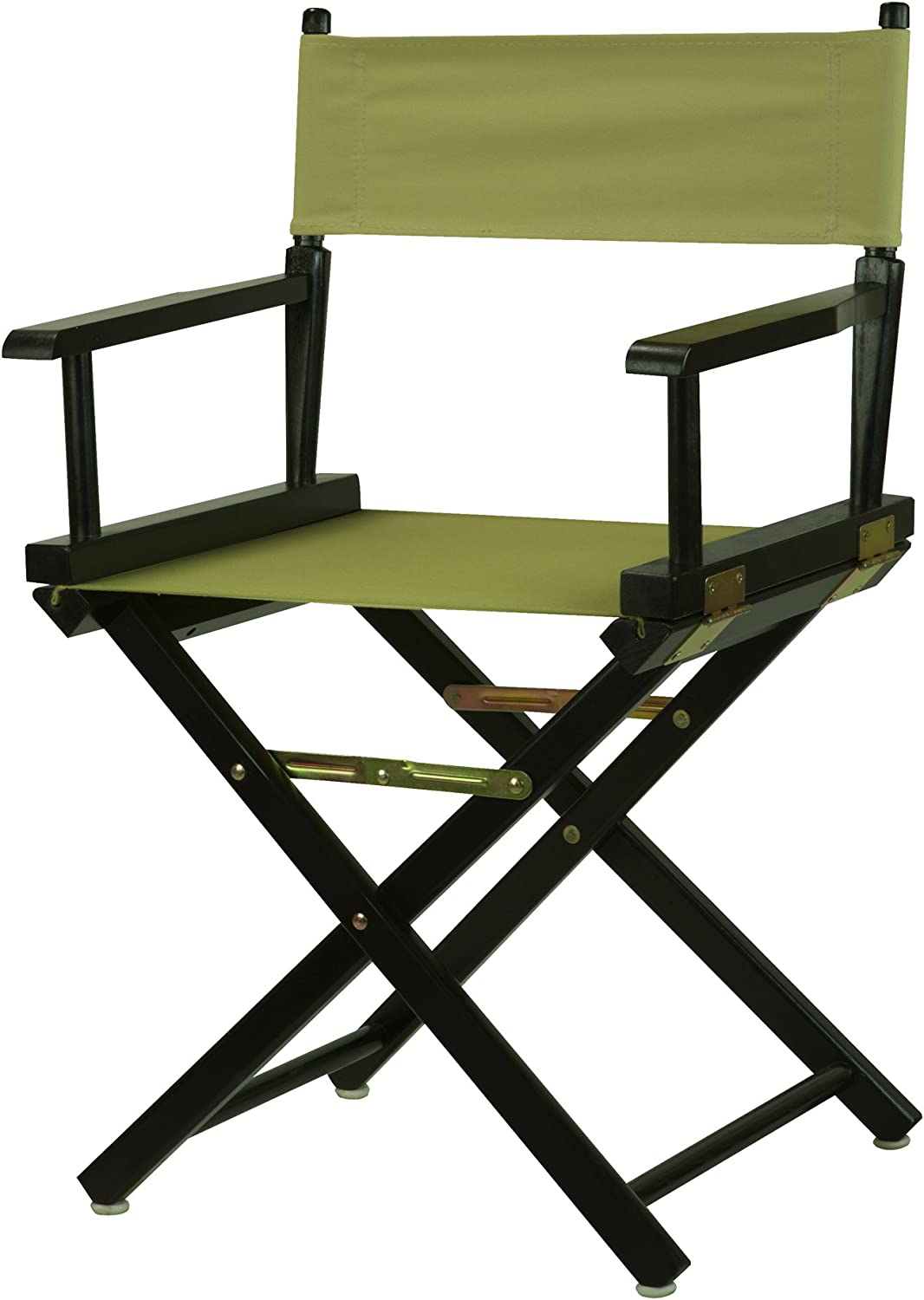 """Casual Home 18"""" Director's Chair Black Frame with Olive Canvas"""