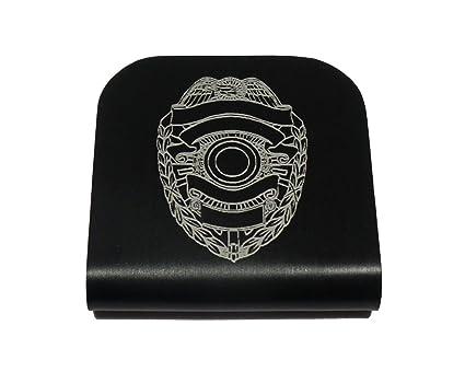 Police Law Enforcement Badge Morale Tags Hat Clip for Tactical Patch Caps  (Black) 789956756669