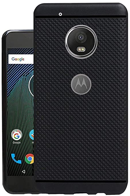 more photos d2a22 d22a1 Jkobi® 360* Protection Premium Dotted Designed Soft Rubberised Back Case  Cover For Motorola Moto G5 Plus -Black