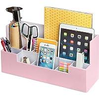Desk Supplies Office Organizer Caddy (Pink 13.4 x 5.1 x 7.1 inches) JackCubeDesign-:MK268D