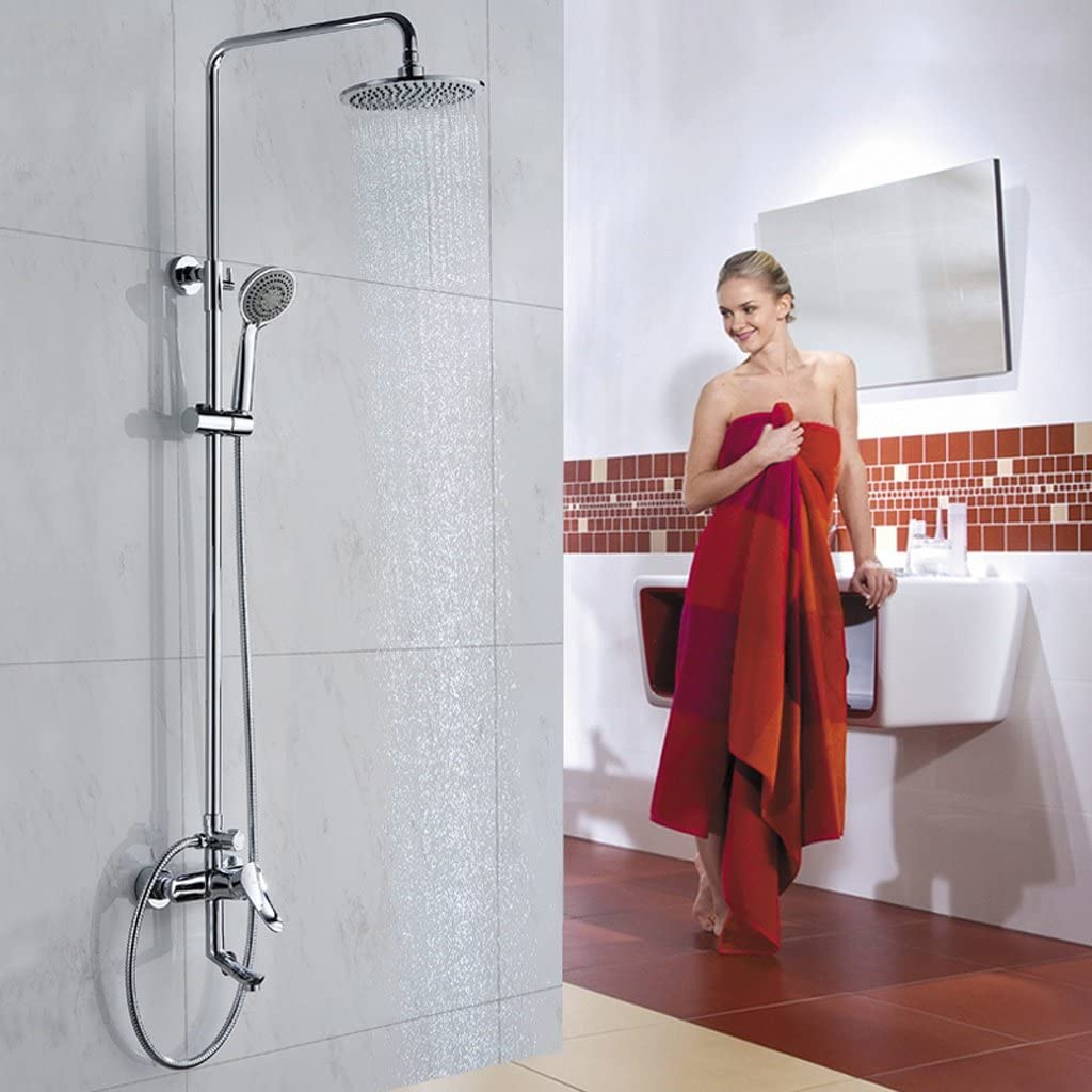 Cuarto de baño columna columna de cobre completo tres agua ducha ...