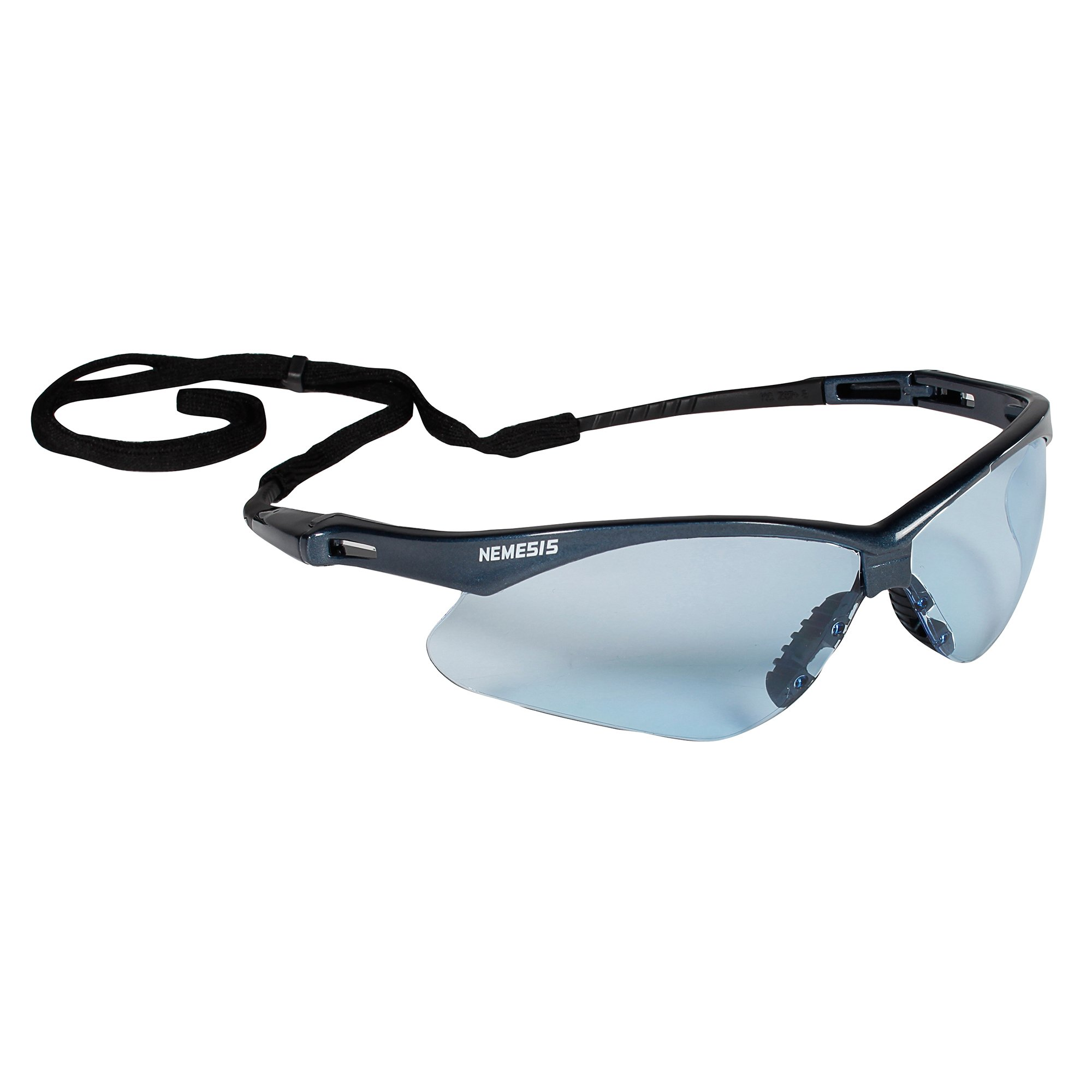 Jackson Safety V30 Nemesis Safety Glasses (19639), Light Blue Lenses with Blue Frame, 12 Pairs / Case