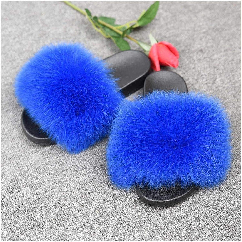 Fur Slides Women's Fur Slippers Shoes