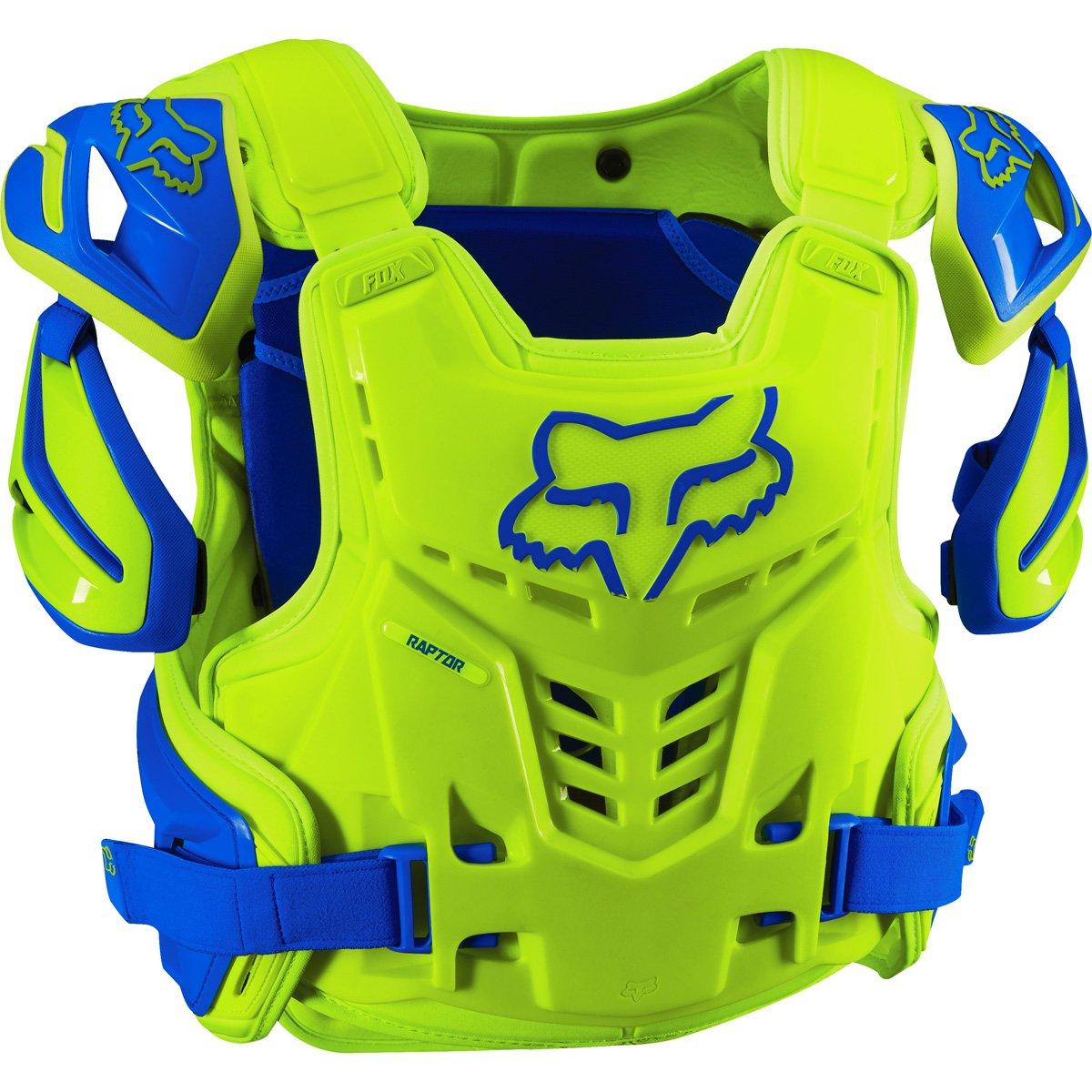 Fox Racing Adult Raptor Vest-Blue/Yellow-L/XL