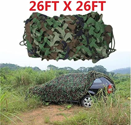 Army Net Hide Hunting Camping Military Camouflage Net Woodland Camo Neting Cover