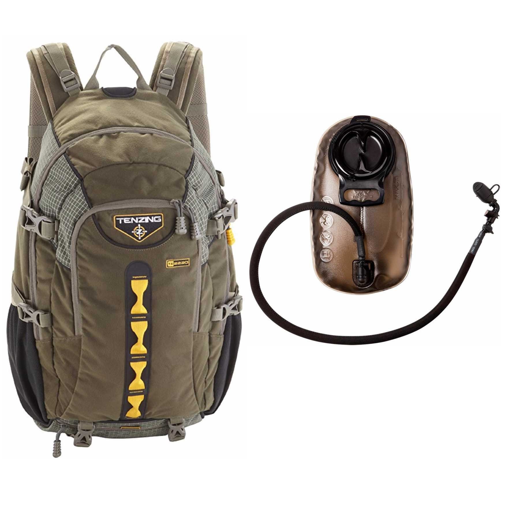 Tenzing TZ 2220 Game Hunting Day Pack Backpack (Loden Green) with 2.0L Hydration Reservoir
