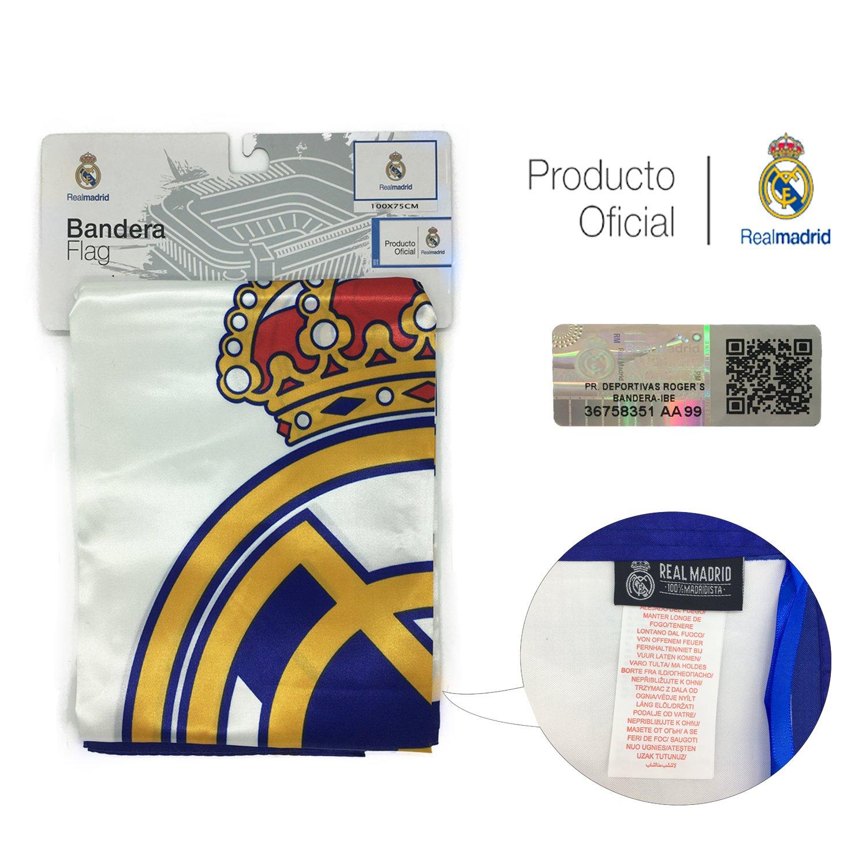 Producto Oficial Real Madrid Bandera del Real Madrid (Escudo con Real Madrid 100x75 cm)