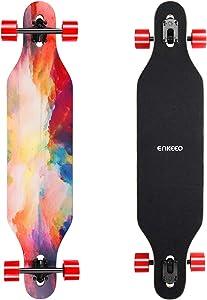 ENKEEO 40 Inch Drop-Through Longboard