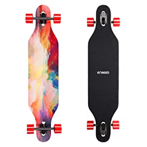ENKEEO 40 Inch Drop-Through Longboard