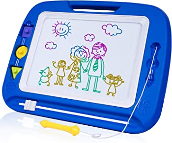 SGILE 13X16 Magnetic Erasable Magna Doodle Toy Drawing Board
