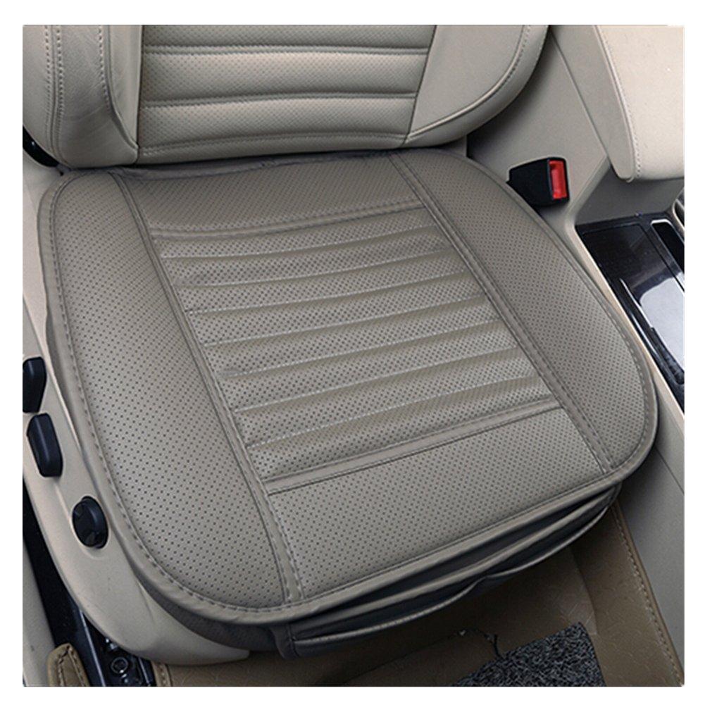 1 Pcs PU Leather Bamboo Charcoal Breathable Autos Seat Cushion Pad Cushion Black