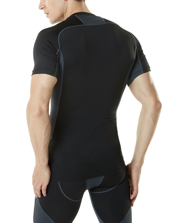 Tesla Mens Short Sleeve T Shirt Cool Dry Compression Baselayer MUB73/MUB03/R13/R14