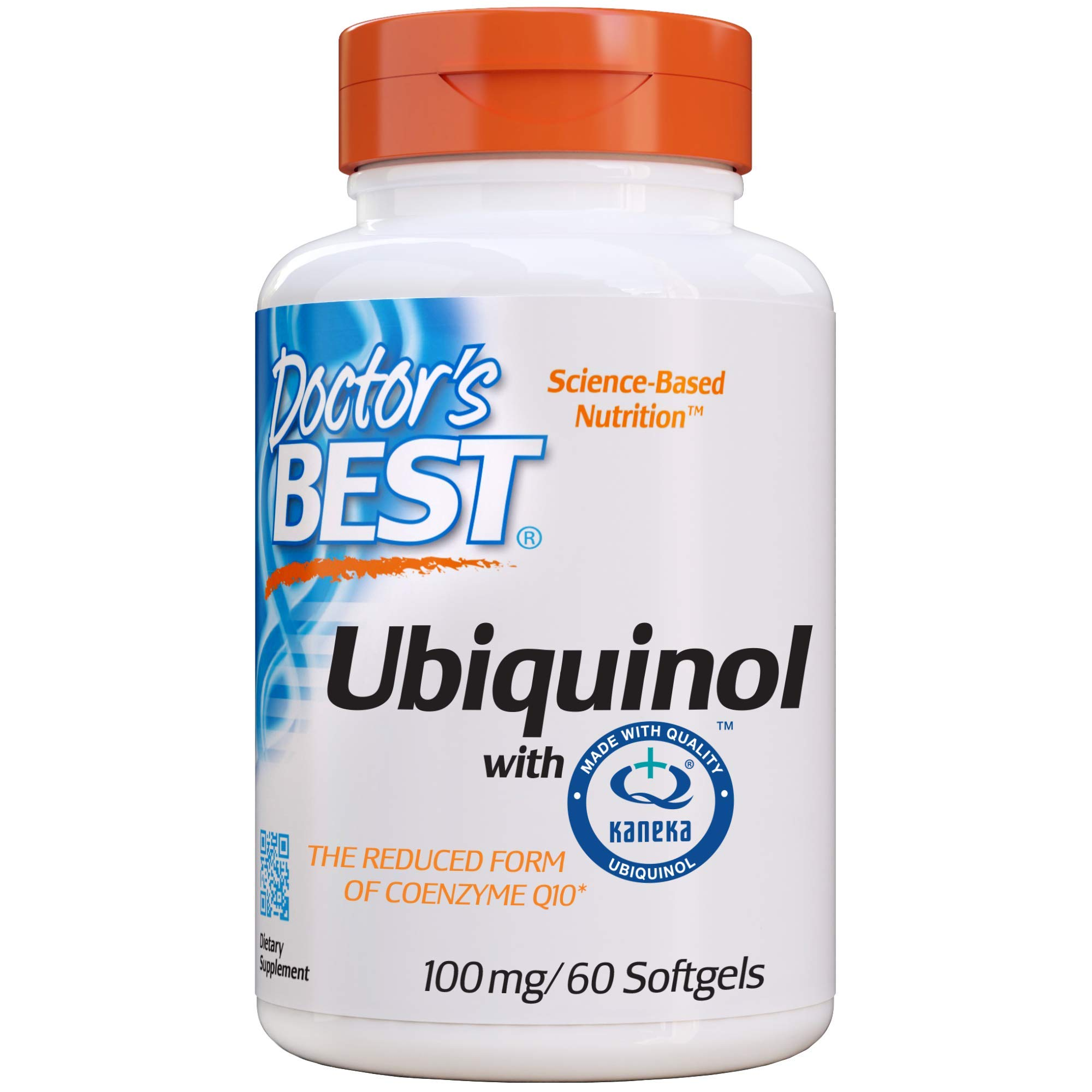 Doctor's Best Ubiquinol with Kaneka QH, Non-GMO, Gluten Free, Soy Free, Heart Health, 100 mg, 60 Softgels by Doctor's Best