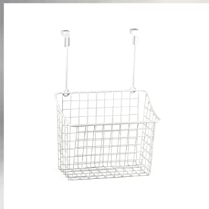 Spectrum Diversified Grid Storage Basket, Large, White