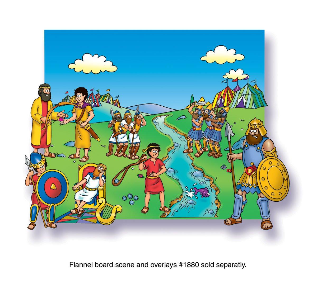 amazon com david and goliath beginners bible felt figures for