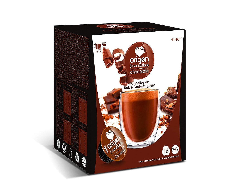 CAPSULAS DE CAFE COMPATIBLES CON MAQUINA DOLCE GUSTO PACK 32 ORIGEN SENSATIONS (CHOCOLATE CALIENTE): Amazon.es: Alimentación y bebidas