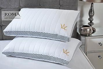 Roma - Almohada de muelles Acolchada para Muebles (muelles y muelles), 2 Pack (45cm x 70cm): Amazon.es: Hogar