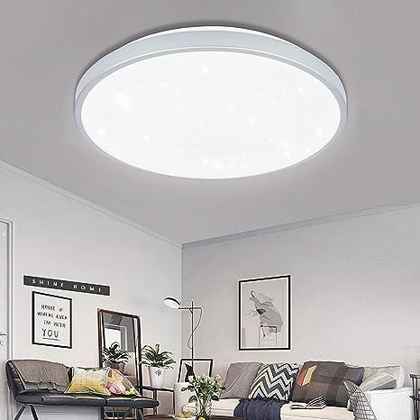 Lámpara LED de techo con efecto de purpurina plateada para ...