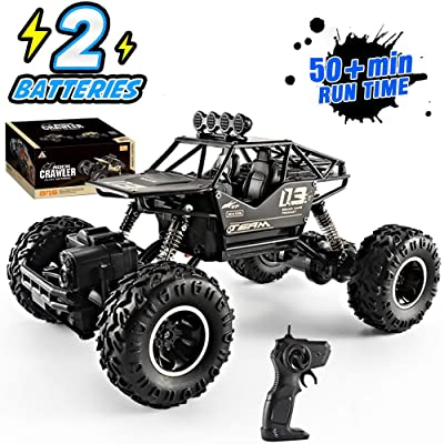 XYCQ 4WD RC Monster Truck Off-Road Vehicle 2.4G Remote Control Buggy Crawler Car with Two Battery,4x4 Electric Rapidly Off Road car for, Remote Control car for Kids Boys and Adults: Toys & Games