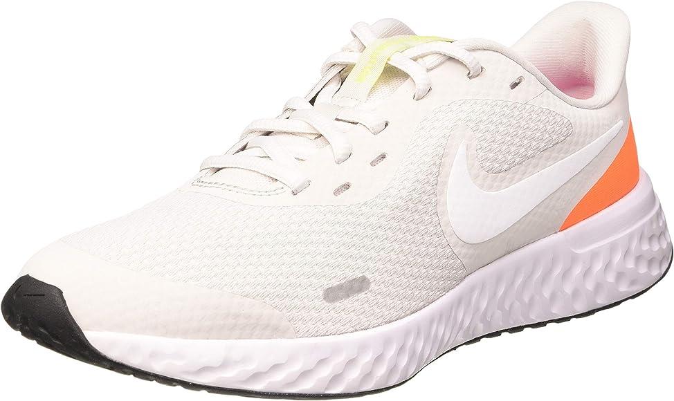 Nike Revolution 5 (GS), Zapatillas para Correr Unisex Niños, Platinum Tint White Pink Blast Lemon Venom, 36 EU: Amazon.es: Zapatos y complementos