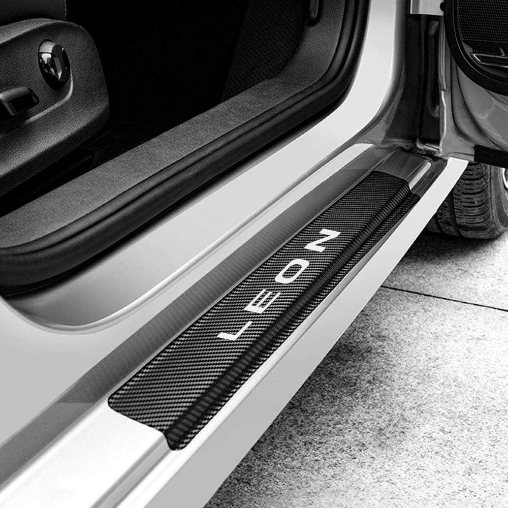 ZXCY Auto Kohlefaser Schwellenaufkleber Einstiegsleisten 4 St/ück f/ür Seat Leon MK3 MK2 Schutz Aufkleber Verschlei/ß Verhindern Kratzer rutschfest Schwellen