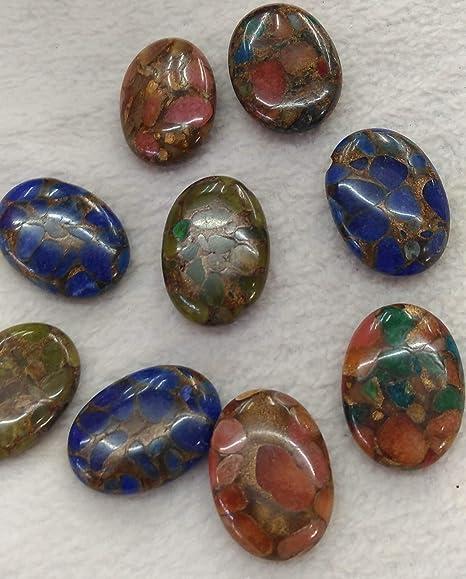 Gold polished craft stones