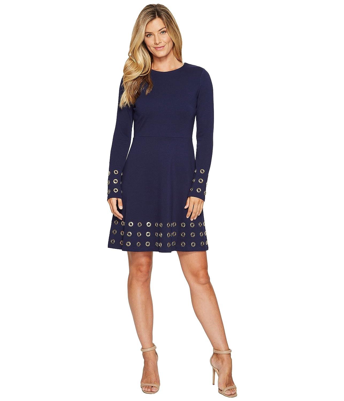 [マイケル マイケルコース] MICHAEL Michael Kors レディース Grommet Embellished Flare Dress ドレス [並行輸入品] B074XV6SLJ  True Navy XL