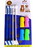 PenVinoo Dog Toothbrush Pet Toothbrush Finger Toothbrush Small to Large Dogs