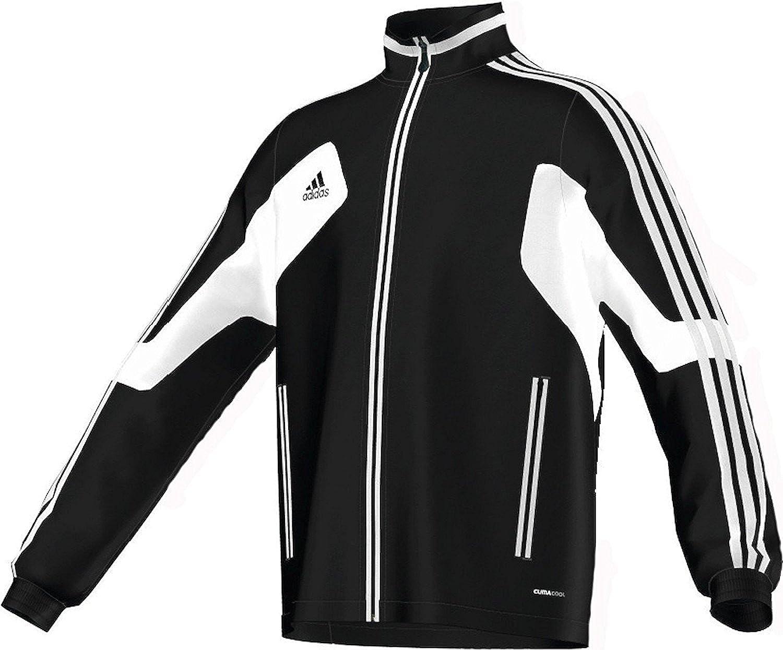 Adidas Youth Condivo 12サッカートレーニングジャケット(ブラック/ホワイト) B0058XKK9AYS