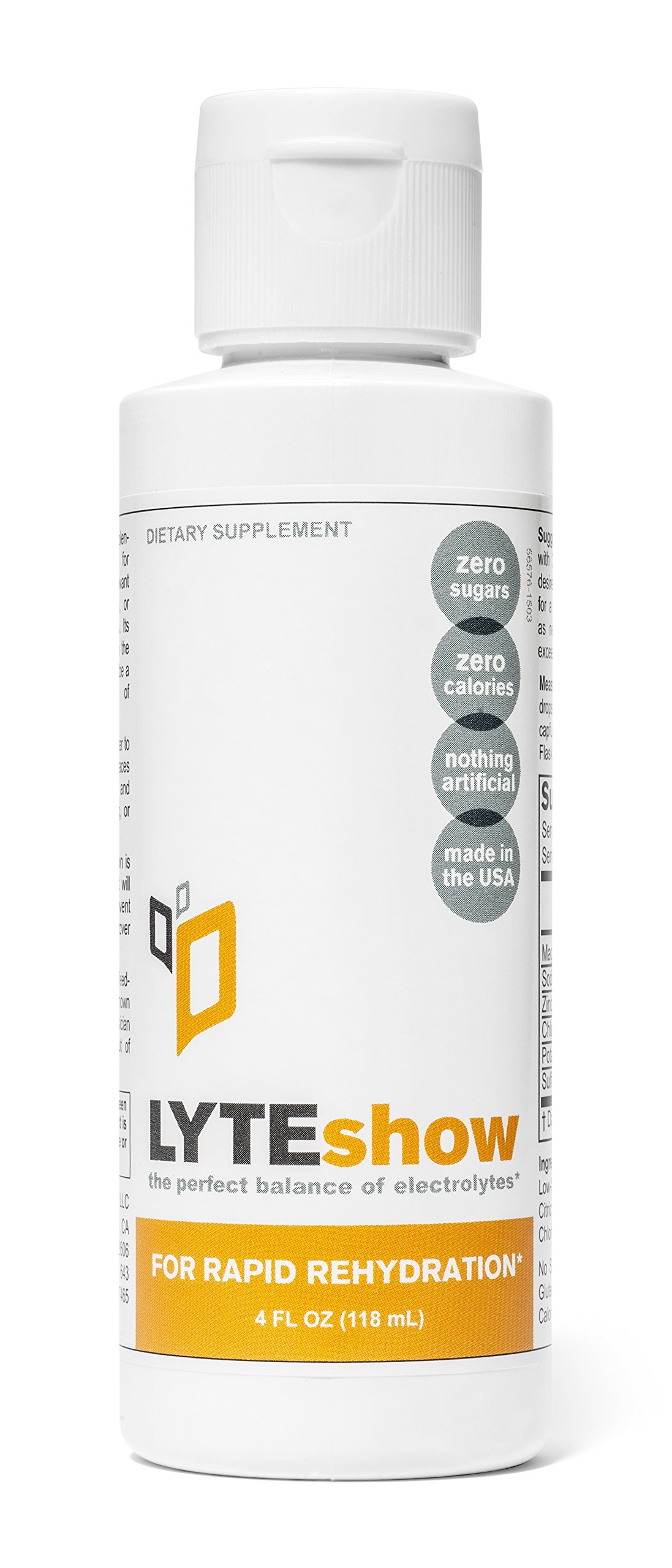 LyteShow (8 Bottles) - Electrolyte Concentrate for Rapid Rehydration - NO Sugars, NO Additives - 320 Servings (With Magnesium, Potassium, Zinc)