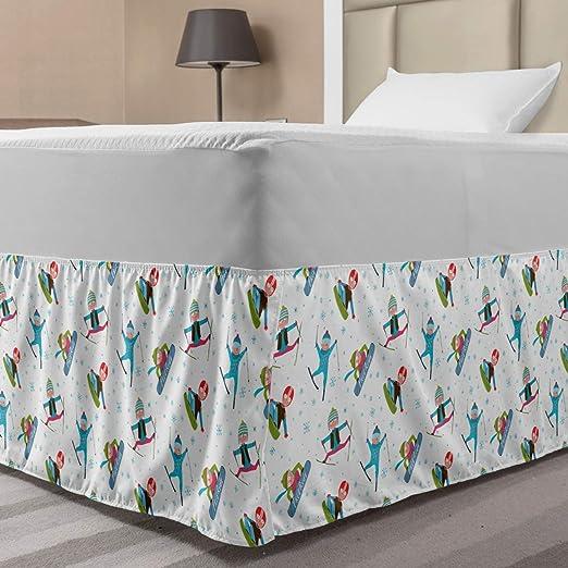 Ambesonne - Falda de cama elástica con estampado de cebra ...