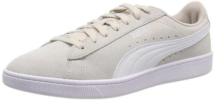 Puma Vikky V2 Sneaker Damen Beige mit weißen Streifen