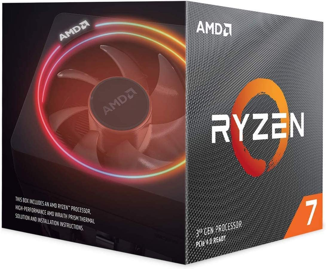 Amazon Com Amd Ryzen 7 3700x 8 Core 16 Thread Unlocked Desktop Processor With Wraith Prism Led Cooler Computers Accessories