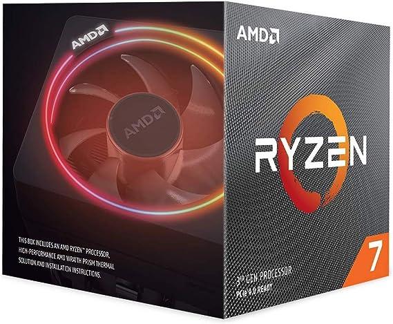 Amazon Com Amd Ryzen 7 3700x 8 Core 16 Thread Unlocked Desktop Processor With Wraith Prism Led Cooler Computers Accessories