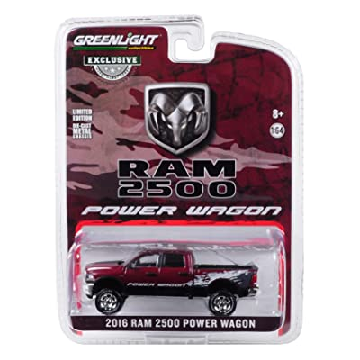 2016 Dodge Ram 2500 Power Wagon Pickup Truck Delmonico Pearl Red Hobby Exclusive 1/64 Diecast Model Car by Greenlight 29981: Toys & Games