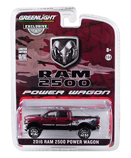 Dodge 2016 Truck >> 2016 Dodge Ram 2500 Power Wagon Pickup Truck Delmonico Pearl Red Hobby Exclusive 1 64 Diecast Model Car By Greenlight 29981