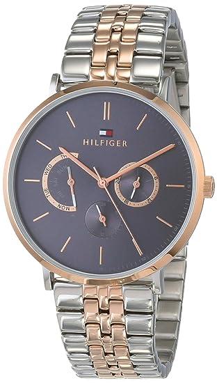 Tommy Hilfiger Reloj Multiesfera para Hombre de Cuarzo con Correa en Acero Inoxidable 1710372: Amazon.es: Relojes