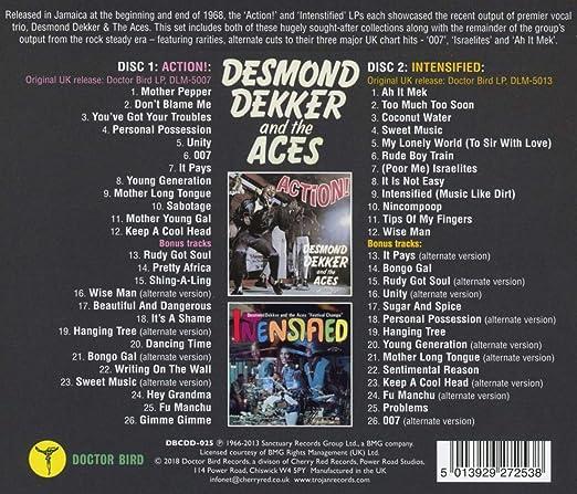 Dekker Desmond The Aces Action Intensified Amazon Com Music